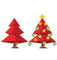 Red Polygonal Christmas Tree vector image vector image