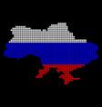 russia colors dot ukraine map with crimea vector image
