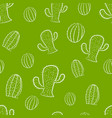 seamless pattern with cactus vector image