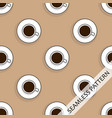 seamless pattern with cups of hot strong coffee vector image vector image