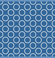 seamless pattern with polka dots blue background vector image vector image