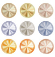 set of blank centric circles with shiny discs of vector image vector image