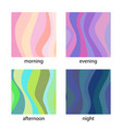 set of modern backgrounds vector image vector image