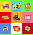 set sale banner discounts vector image vector image