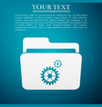 settings folder icon isolated on blue background vector image vector image