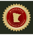 Star label Minnesota vector image vector image