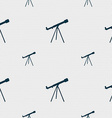 Telescope icon sign Seamless pattern with vector image