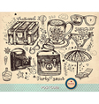Travel postcard vector image