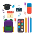 Various individual school supplies set vector image