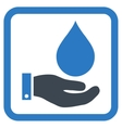Water Service Flat Icon vector image vector image