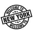 welcome to new york black stamp vector image vector image