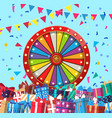 wheel of fortune and presents in vector image vector image