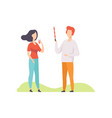 young couple having outdoor bbq party girl vector image