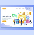 zero waste website landing page design vector image