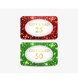 Gift card set of shiny gift cards vector image