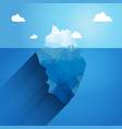 3d iceberg concept Success vector image
