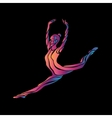 Creative color silhouette of gymnastic girl Art vector image