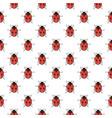 ladybug seamless pattern ladybird repeating vector image