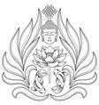buddha abstract pattern vector image