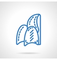 Soft chair simple blue line icon vector image