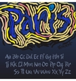 alphabet in style artist vincent van gogh vector image vector image