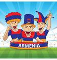 armenia football fans soccer supporter vector image vector image