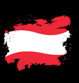 Austria flag grunge style on black background vector image vector image