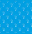 baboon pattern seamless blue vector image