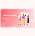 banner foreign language concept vector image