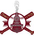 baseball train emblem logo