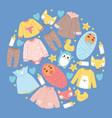 bashop cartoon kids clothing toys newborn vector image vector image