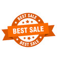 best sale ribbon best sale round orange sign best vector image vector image