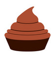 birthday cupcake icon vector image