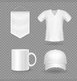 blank mock-up promotional gifts realistic vector image
