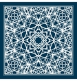 Blue scarf design with geometric pattern vector image vector image