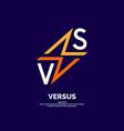 bright poster symbols confrontation vs vector image vector image