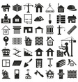 building icons on white vector image vector image