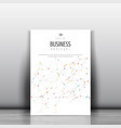 business brochure template with low poly design vector image