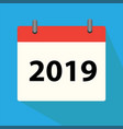calendar 2019 icon on white background calendar vector image vector image