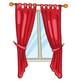 cartoon home window vector image vector image