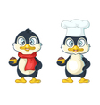 cartoon penguin chef vector image