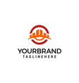 creative building concept logo design template vector image vector image