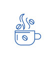 cup of coffee line icon concept cup of coffee vector image vector image