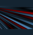 dark blue and red stripes abstract background vector image vector image