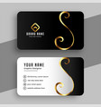 elegant golden swirl business card design template vector image vector image