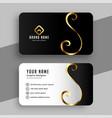 Elegant golden swirl business card design template