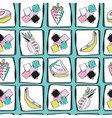 fun memphis fruit pattern seamless vector image