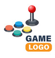 game logo joystick controller directional pad vect vector image vector image
