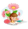 Girl Studying vector image