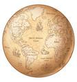 globe vintage world map vector image vector image